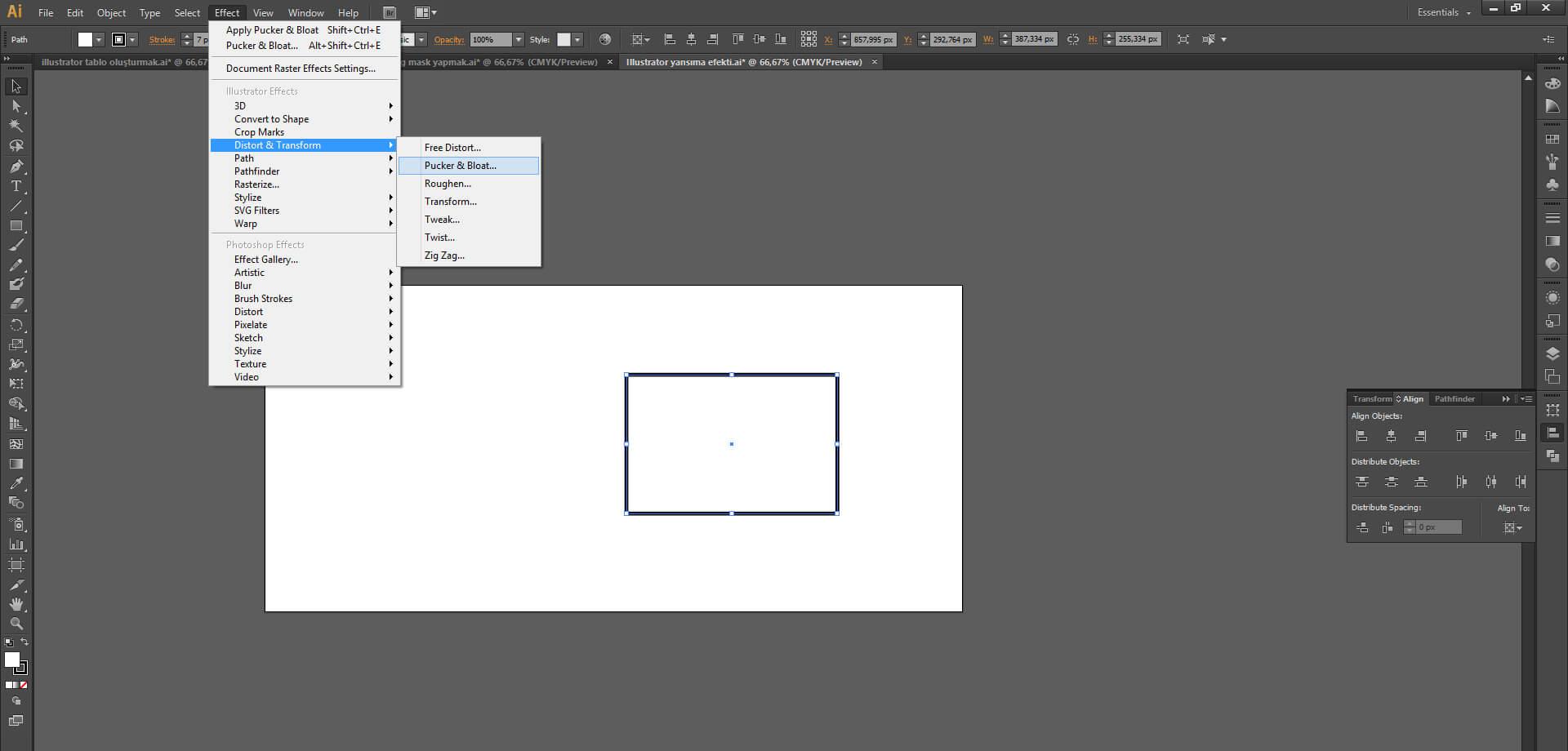 Illustrator da İnanılmaz Şekiller Nasıl Yapılır ?