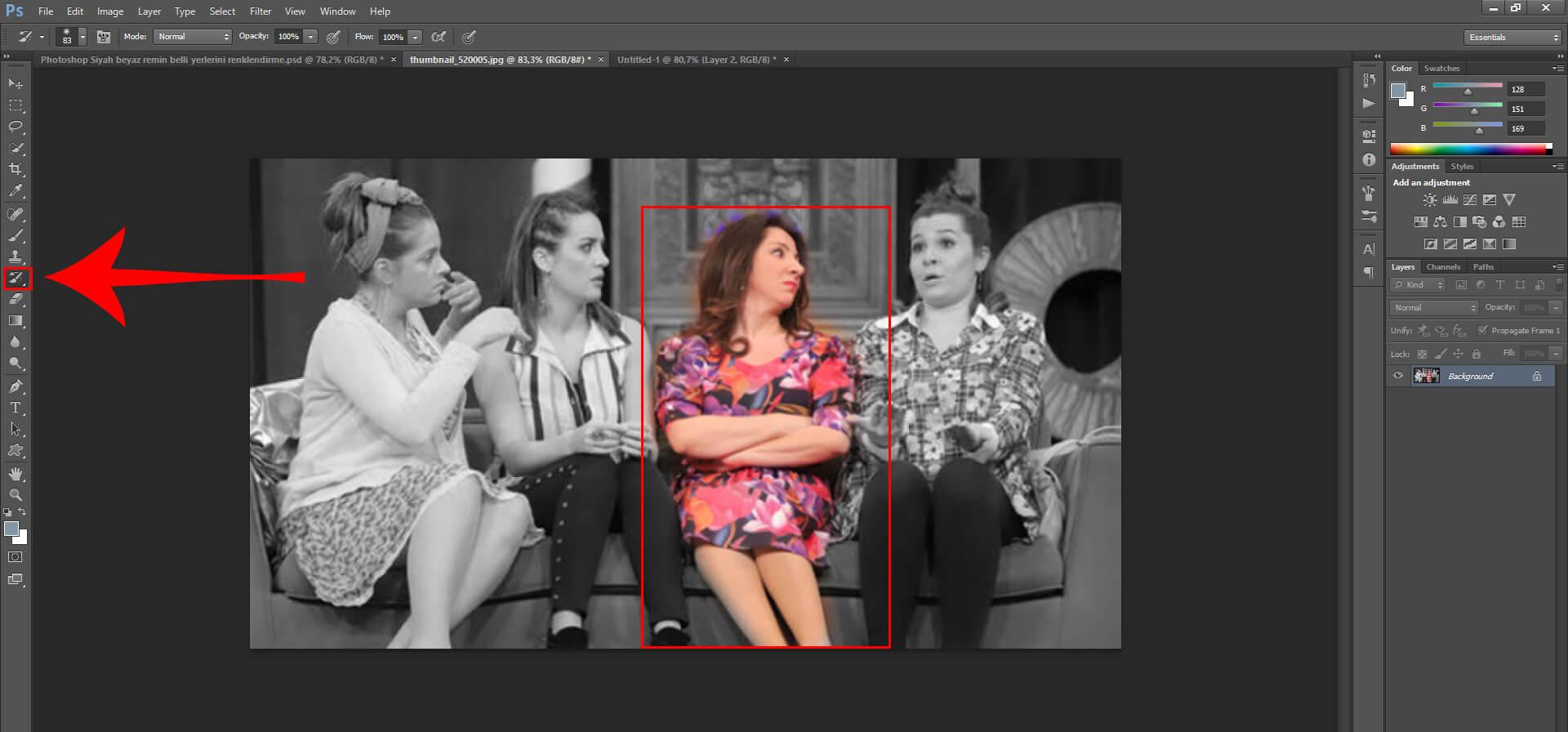 Photoshop'da Resmi Renklendirme Nasıl Yapılır ?
