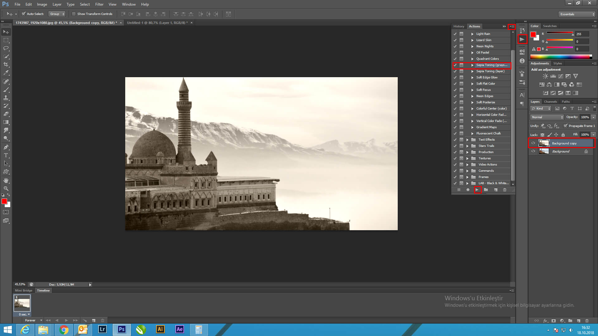 Photoshop'daNedenResme Sepia Tonlaması verelim ?