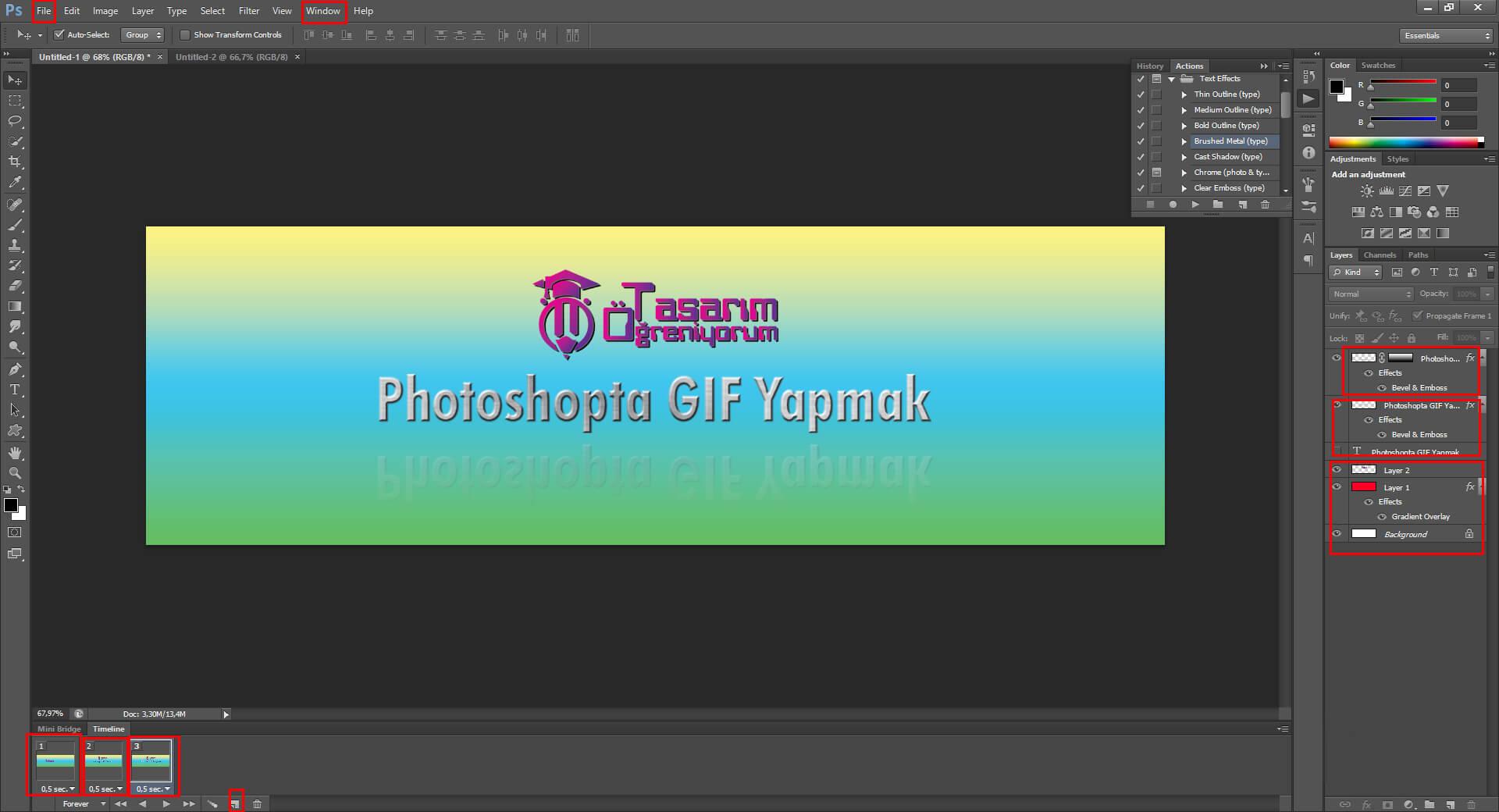 Photoshop'da GIF Yapmak