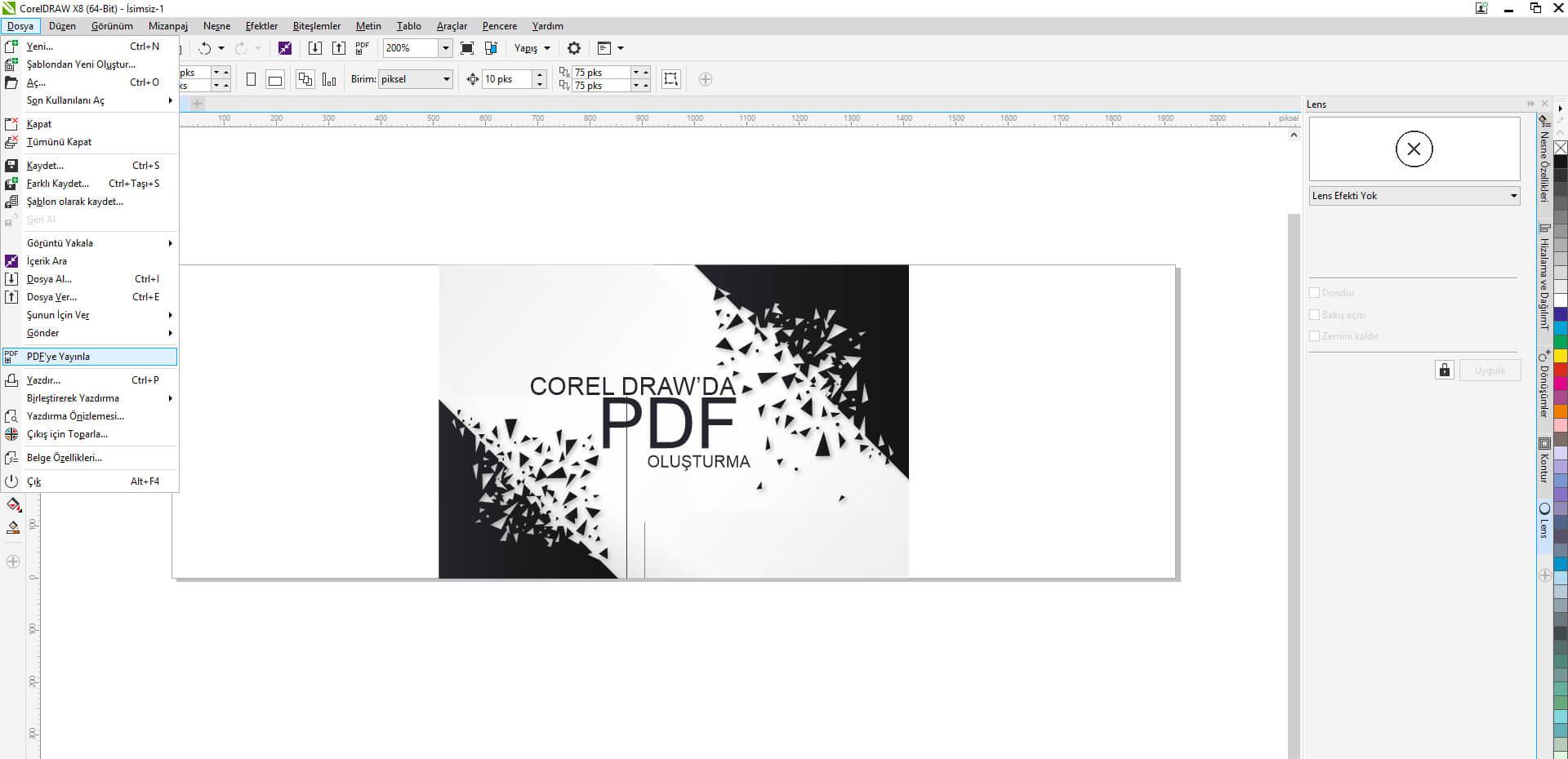 Corel Draw'da PDF Dosyası Oluşturma