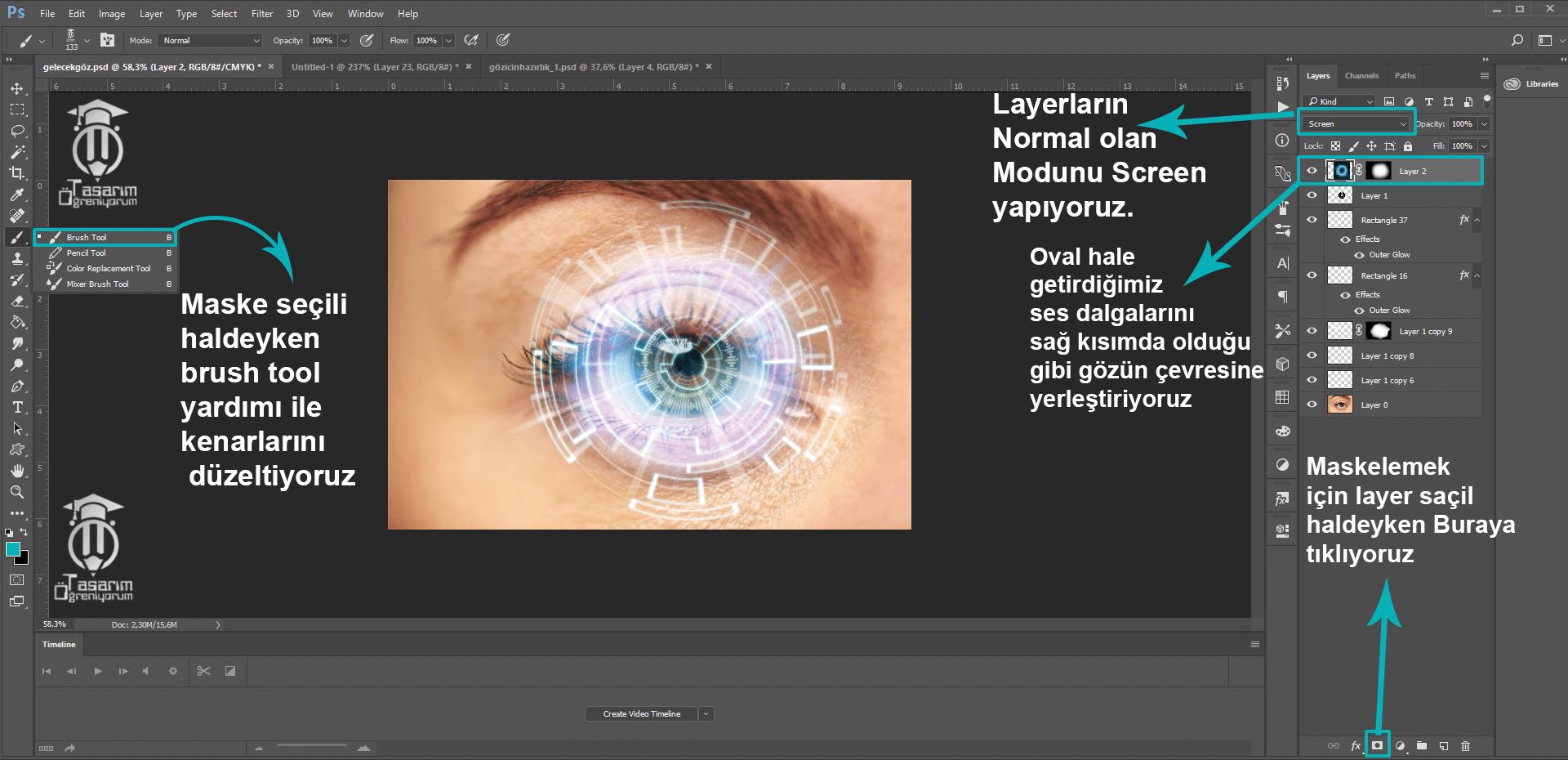 Photoshop Fütüristik Göz