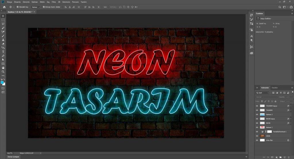 Neon Yazı Efekti