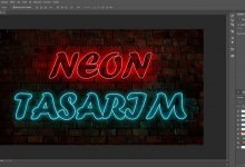 Photo of Photoshop Neon Yazı Efekti